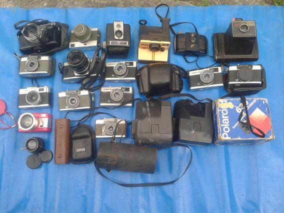 Lote 80 Câmeras Fotográficas Antigas Variadas Kodak Agfa Etc