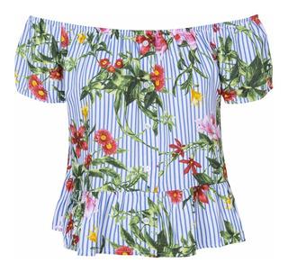 Remera Paisana Floreada Mujer Camisa - Quality Import Usa