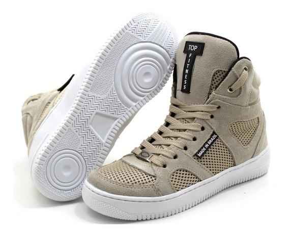 Bota Botinha Sneakers Tenis Cano Alto Academia Top Fitness