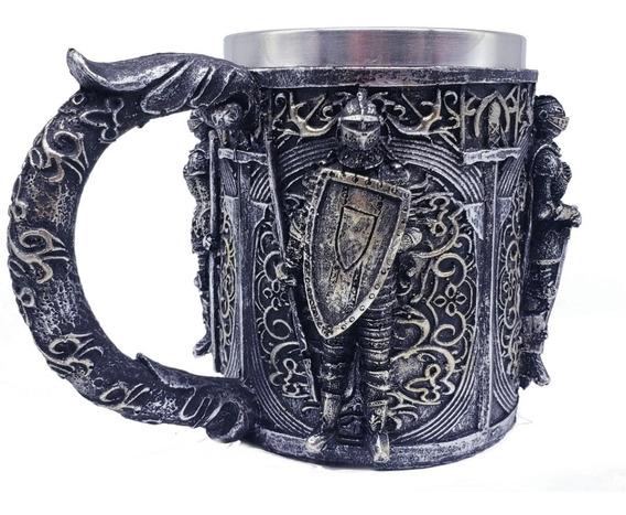 Caneca Aço Inox Medieval Viking Caveira Chopp Cerveja Throne