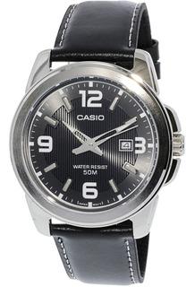 Reloj Casio De Hombre,color Negro Brillante,con Fechador.