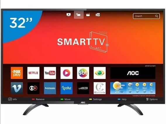 Smart Tv Led 32 Polegadas Aoc Le32s5970s Hd Wifi 2 Usb 3 Hdm