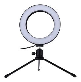 Ring Light + Tripe Iluminador Portail 16cm Maquiagem Fotos