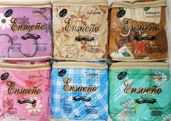 Pack De 8 Sabanas Franela Ensueño Individual