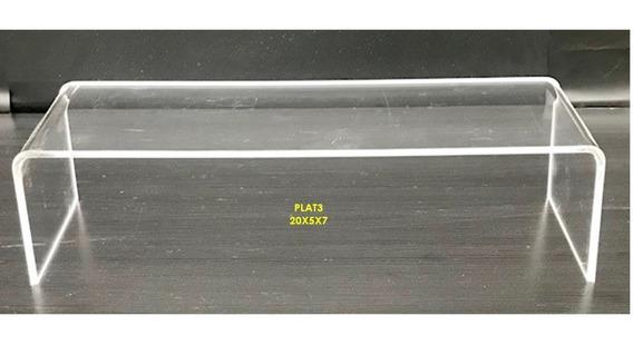 70 Exhibidor Plataforma Acrilico Calzado 20x.05x.07 Cm