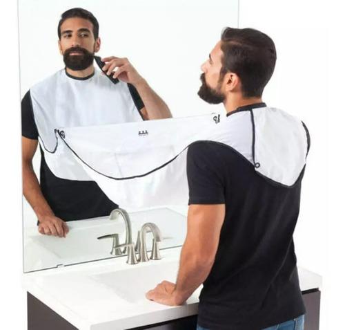 Capa Delantal Afeitado Corte Barba Recoge Pelo Bigote