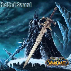 Espada World Of War Craft Frostmourne Aco Tamanho Real 3