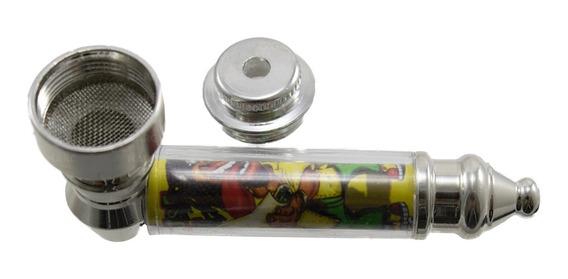 Cachimbo Pipe Diferente Alumínio 7x4 + 5 Tela Aço Inox