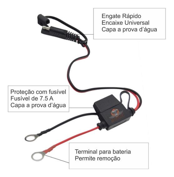 Cabo Auxiliar Conector De Carregador De Bateria Harley Moto