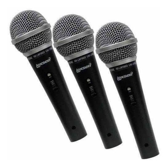 Kit Com 3 Microfones Lm1800 Lexsen