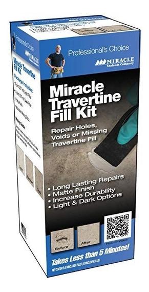 Milagro Travertino / Piedra Caliza Chip & Fill Kit De Repara