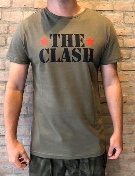Remera Desigual The Clash Verde