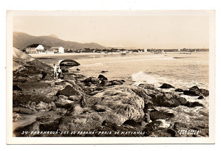 Cartao Postal Paranaguá - Praia De Matinhos - Anos 40