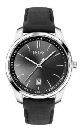 Relógio Original Hugo Boss Couro Preto