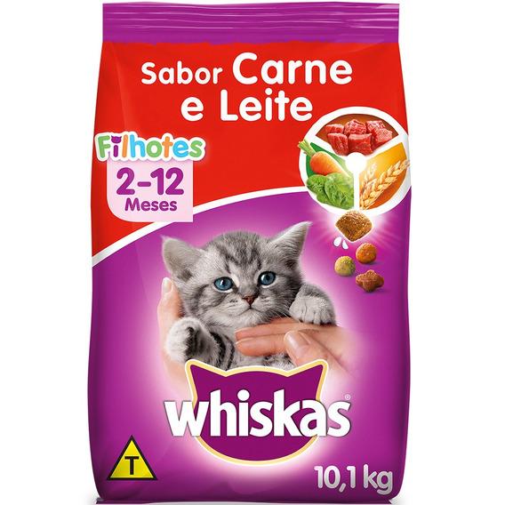 Ração Whiskas Carne E Leite Para Gatos Filhotes - 10,1 Kg