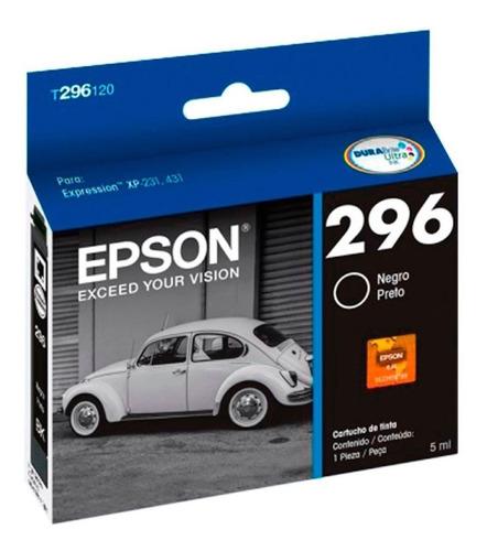Cartucho Epson T296 Negro Original 296 Xp231 Xp431 T296120