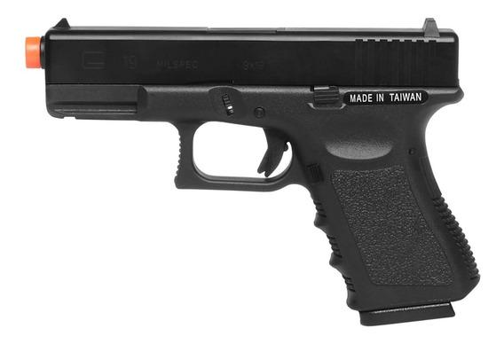 Pistola De Airsoft À Gás Gbb Green Gás G19 Blowback 6mm - Ks
