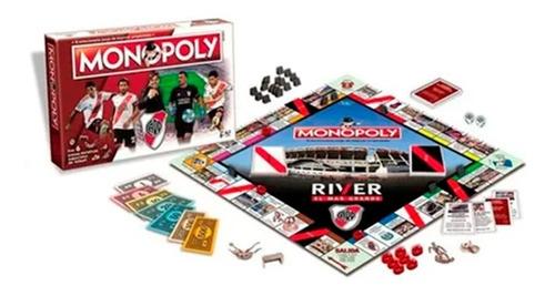 Imagen 1 de 1 de Juego Mesa Monopoly Futbol River Original Toyco