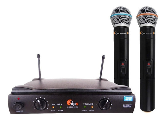 Microfones sem fios Kadosh KDSW-402M cardióide