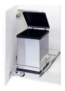 Cubo Para Residuos Fark 2001/ac Acero Inox. 10l. Correderas