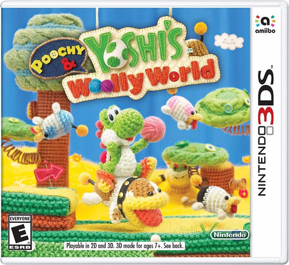 Jogo Poochy Yoshi S Woolly World New 3ds 2ds Lacrado Origina