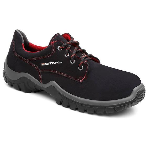 Sapato De Segurança Microfibra Preto/rima Wo10041 Ca 28140
