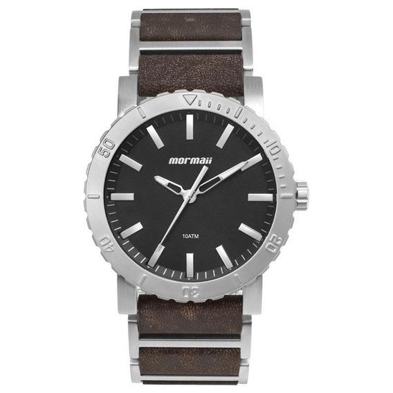 Relógio Mormaii Couro E Aço Mo2035ii/0p