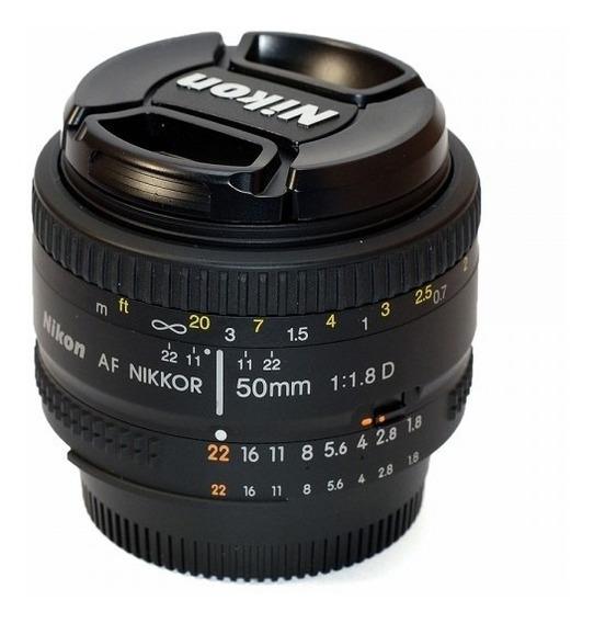 Lente Nikon Af Nikkor 50mm F/1.8d Objetiva Nikon