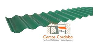 Chapa Plástica De Techo 450 Grs Acanalada/trapezoidal X Mt2