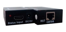 Extensor Hdmi Ate 60 Metros Tv 3d Cabo Utp Rede Cat5e