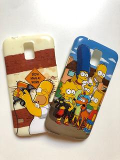 Kit 2 Capinhas Simpsons S5 / S5 New Edition