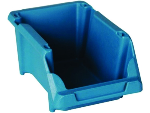 Imagem 1 de 8 de Caixa Plástica Gaveteiro Parafuso Azul / Preta Nº 5 - 20 Pçs