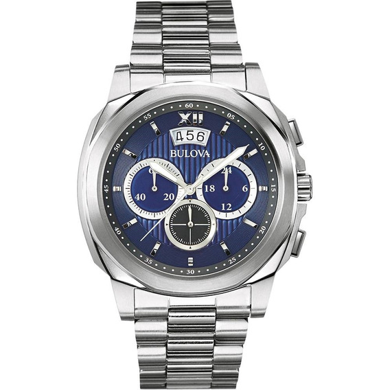 Relógio Masculino Bulova Analógico Esportivo Wb31818f -prata