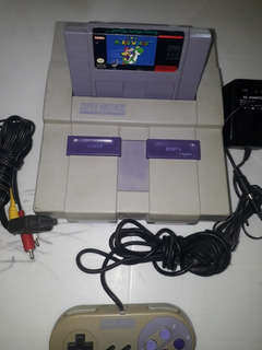 Super Nintendo Con Super Mario World