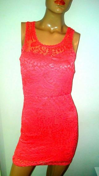 Vestido De Encaje Al Cuerpo Y Espalda Descubierta Vs Colores