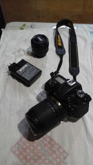 Máquina Fotográfica Nikon D7200 - 2 Lentes E 2 Baterias