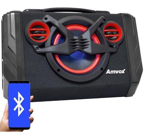 Caixa Som Amplificada Bluetooth 80w Mp3 Usb Fm Aux Bateria