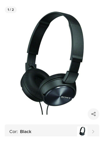Fone De Ouvido Headphone Sony Mdr-zx110 Preto