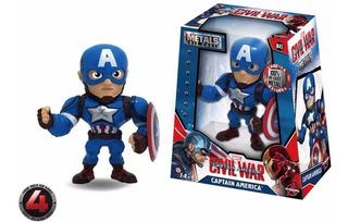 Figura De Metal Die Cast Colección Capitán America Marvel
