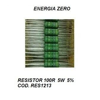 Resistor 100r 5w 5% Cod. Res1213 Frete Cr