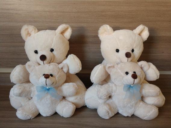Pelúcia Urso / Ursinho - 2 Unid.18cm + 2 Unid.28cm