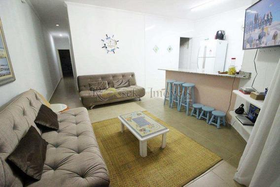 Casa 3 Dorm, Mobiliada E A 100m Da Praia Em Itanhaém - Cod: 184 - V184