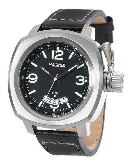 Relógio Magnum Masculino Ma34138p Pulseira Couro