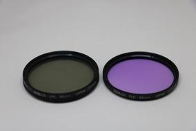 Kit Com 2 Filtros 58mm Fld + Cpl Zeikos Com Case De Couro