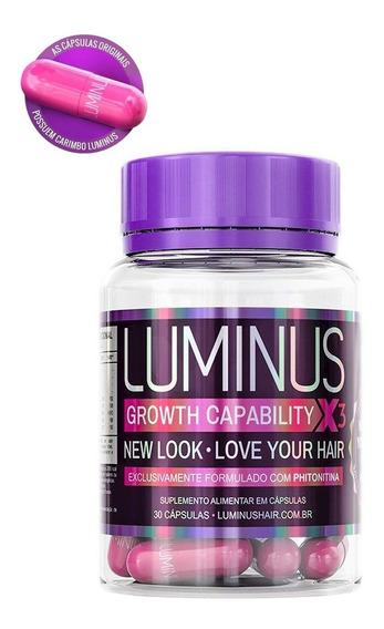 Cápsulas Luminus Hair Original Pote 1x30caps Cresc 3x+rápido