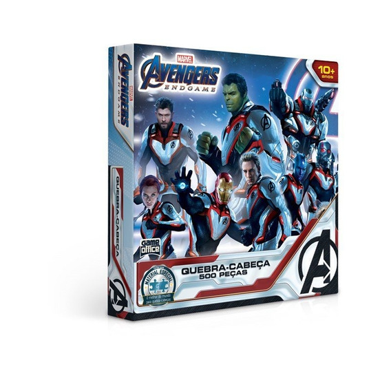 Quebra Cabeça 500 Peças Marvel Vingadores Ultimato - Toyster