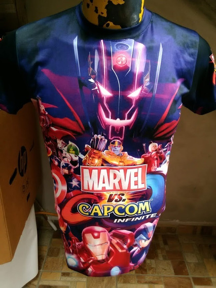Playera Geek Unisex Caballero Marvel Vs Capcom