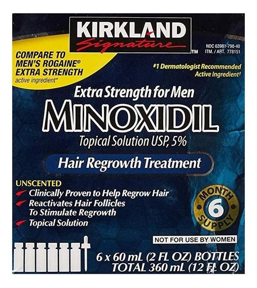 Minoxidil Al 5% Kirkland Crecimiento Barba Y Cabello Hombres