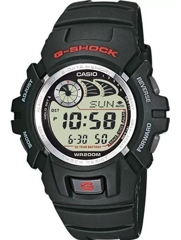 Reloj G-shock Para Caballero Color Negro G-2900