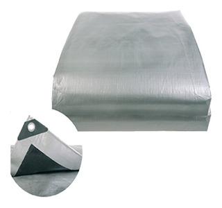 Lona Toldo Carpa Rudo Reforzada 3x6 Negro Gris Impermeable